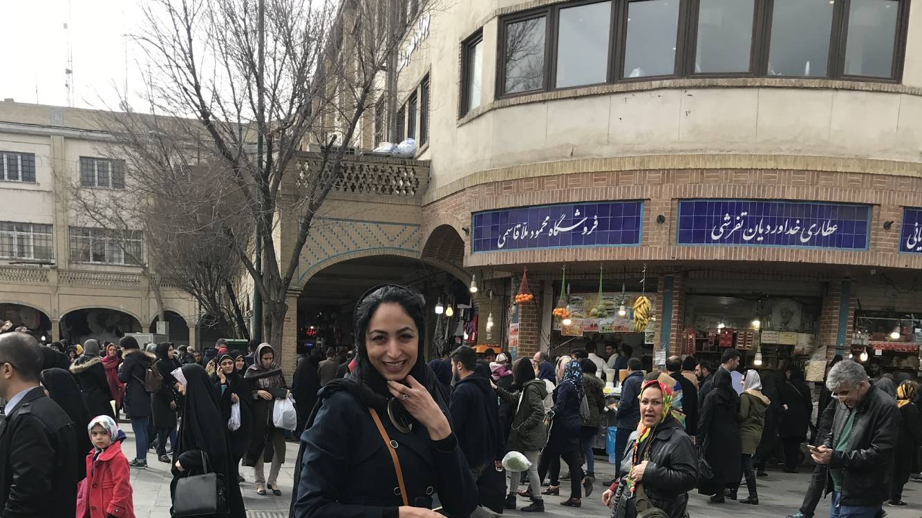 Tehran bazaar district and Golestan palace