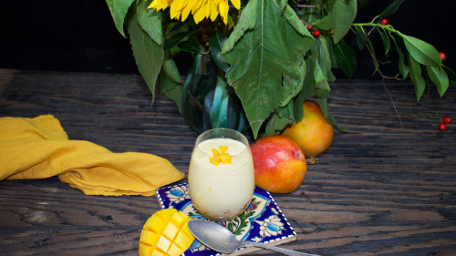 mango coconut milk drink