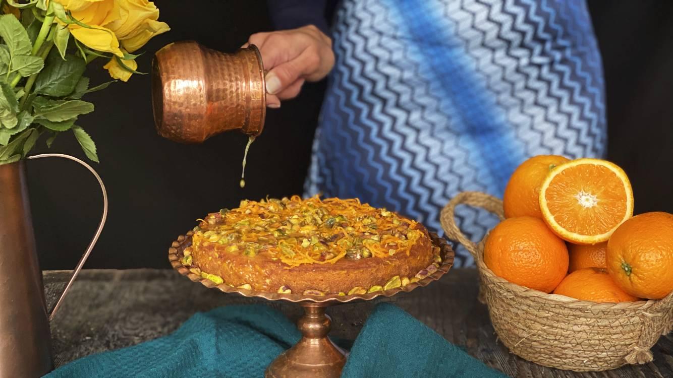orange blossom pistachio cake
