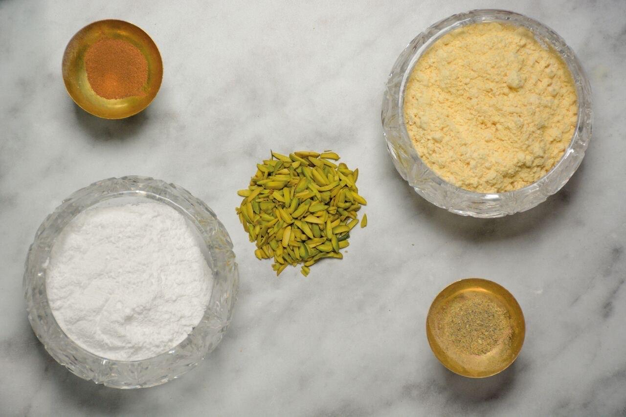 pistachio jewelled biscuits