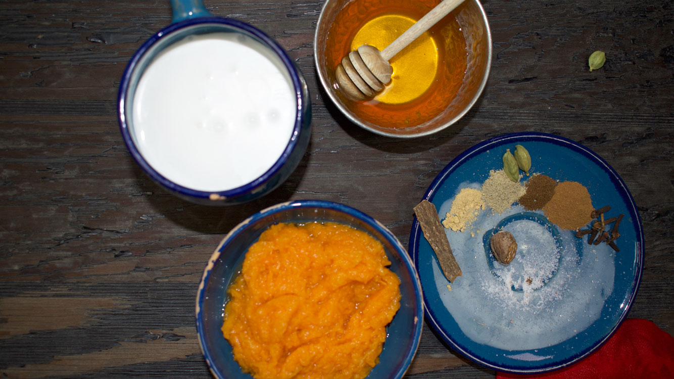 pumpkin coconut milkshake